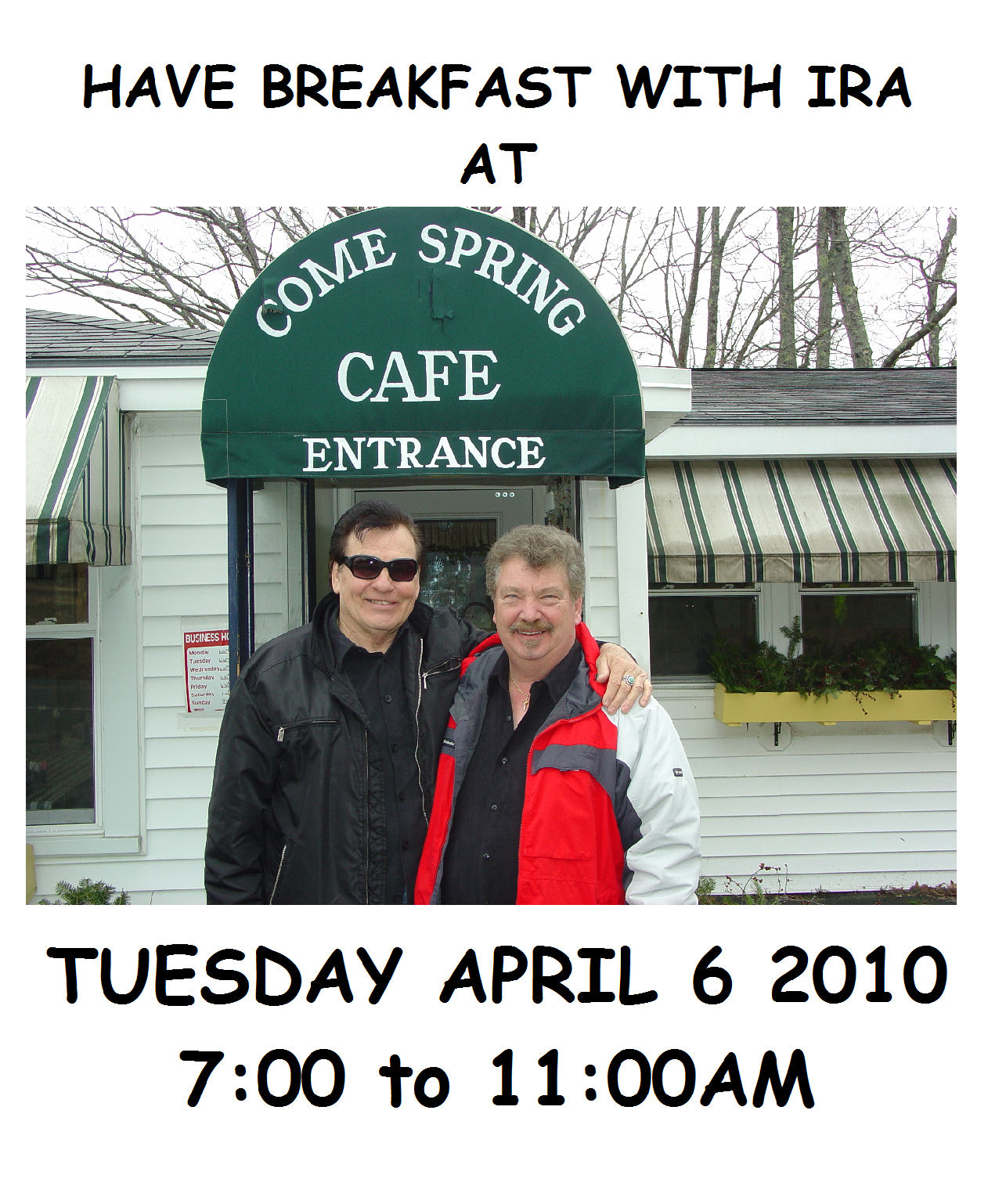 Ira & Dan Newman to perform 2010 Breakfast Show in Maine