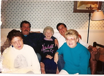 Abner, Ira, Joan & Nancy with their beloved Mother