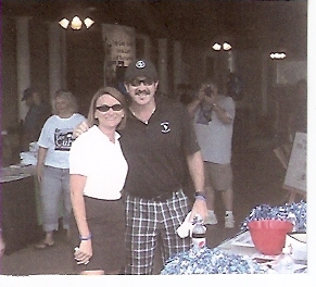 Our youngest daughter Kendra - played in celebrity golf tournament with Kix Brooks for Huntington\'s Disease 9/25/09