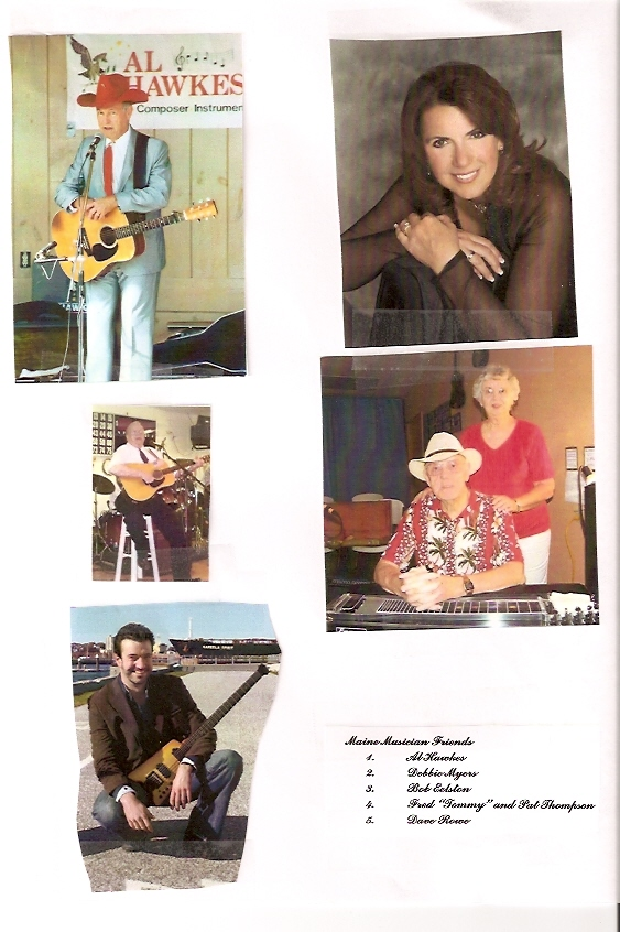 Maine performers Al Hawkes, Debbie Myers, Bob Elston, Tommy & Pat Thompson and Dave Rowe