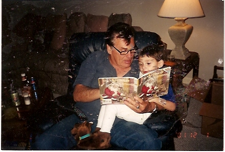 Ira & Grandson Kory read