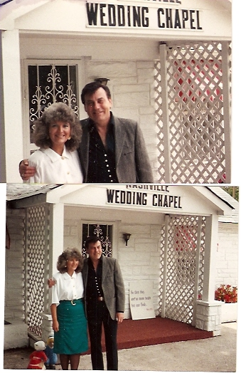 Our wedding day - May 25, 1989 in Nashville, TN.. We left immediately with the band & played a fair in Southern Illinois that night!