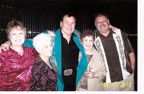Charlene Hooper, Flo Hooper, Ira, Betty Cody & Denny Breau 2010 Pioneer Show