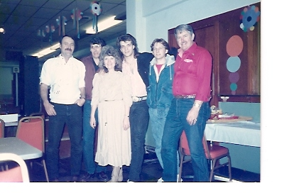 "Judi & her ""Nashville Express Band\"" ouot on the road in Herrin, Illinois (Jerry Piper, Ronnie Frick, Darron Norwood, Rob Parker in 1990."