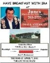 Join Ira at June\'s Cafe in Augusta, ME Thurs April 7, 2011 from 7:00 to 11:00 AM