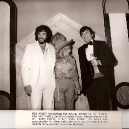 Ira accepting ACM Award 1977 from Stella Parton & Eddie Rabbit